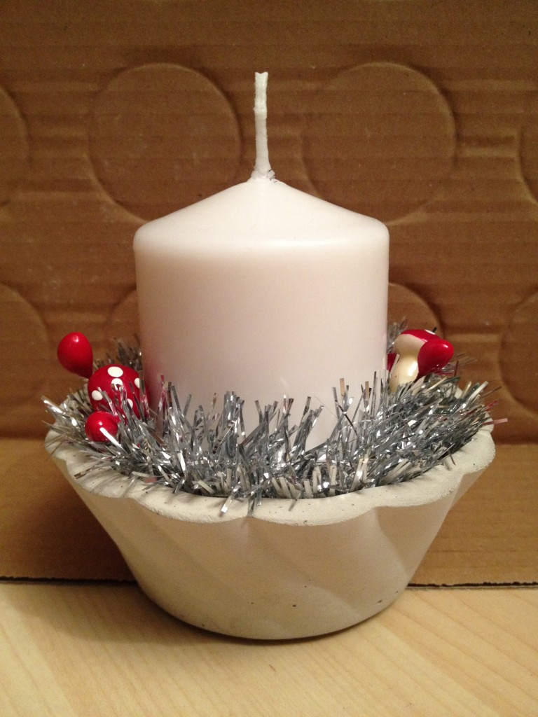 Ljusstake skål jul 2